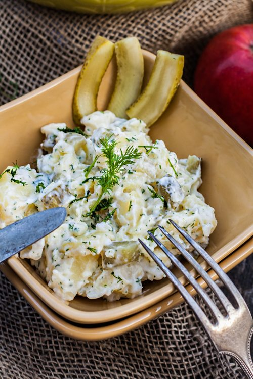 rezept kartoffelsalat mit mayo pfeln und dill nach omas rezept. Black Bedroom Furniture Sets. Home Design Ideas