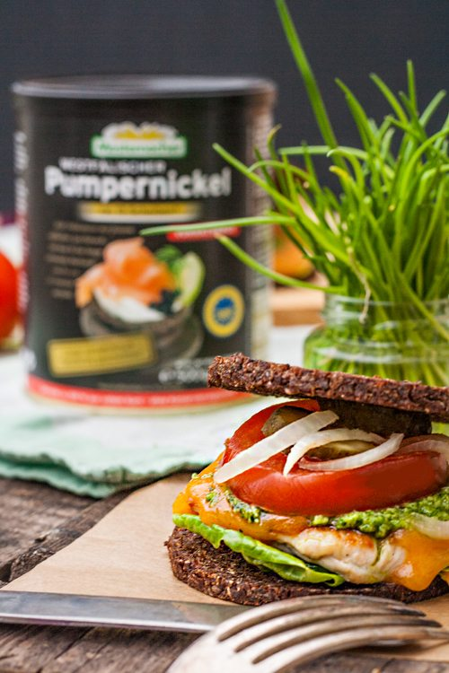 Pumpernickel-Burger