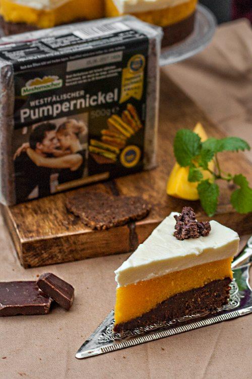Pumpernickel-Mango-Torte