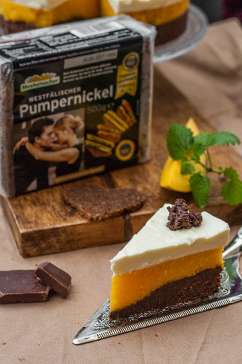 Pumpernickel-Torte-Mango