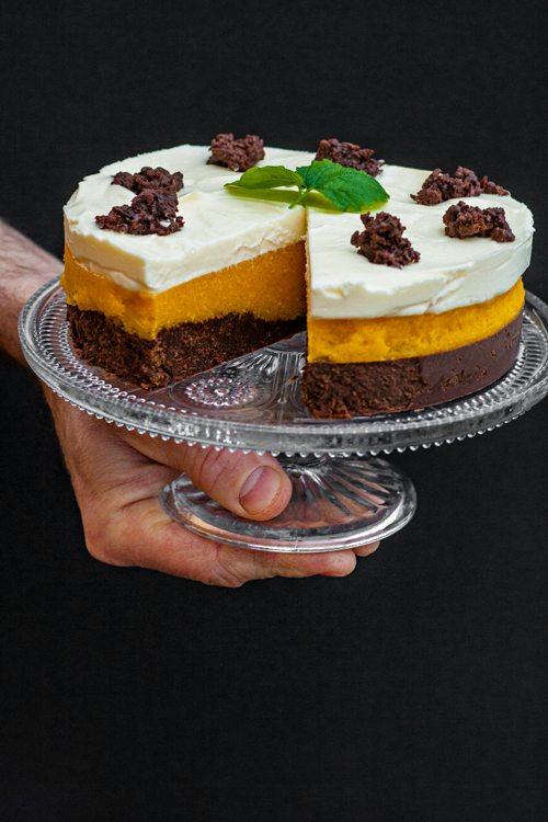 Pumpernickel-Torte-Mango