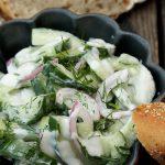 Salate zum Grillen Griechischer Gurkensalat