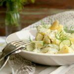 Salate zum Grillen Kartoffelsalat mit Spargel und Salatgurke