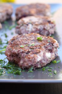Vegetarische Kidneybohnen Feta Patties