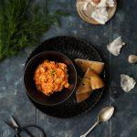 Brotaufstrich Paprika mit Feta und Dill