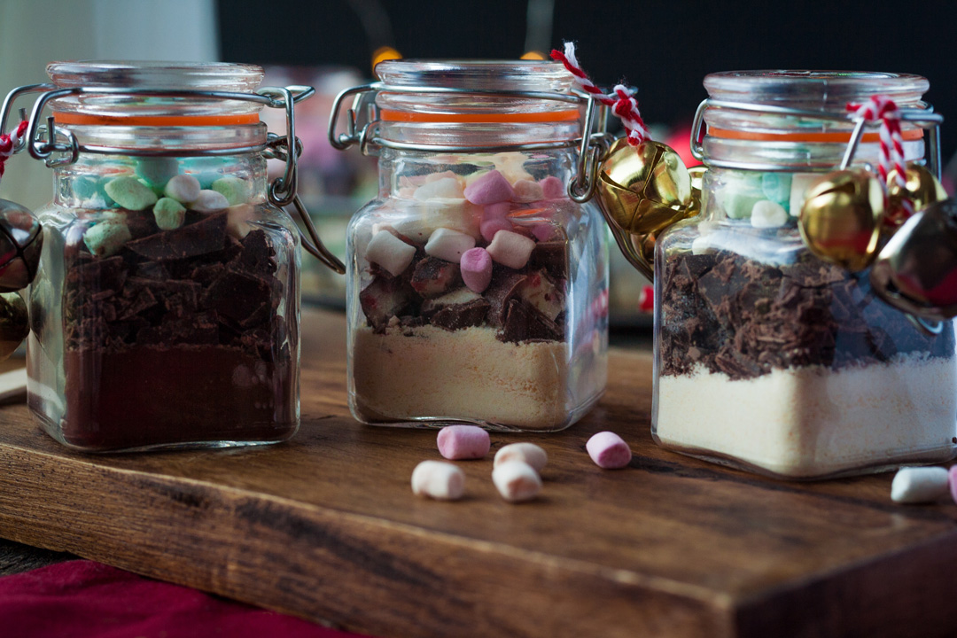 Trinkschokolade im Glas