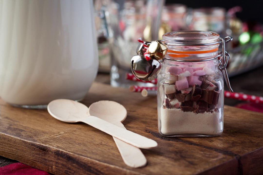 Last Minute Geschenke aus der Küche: Trinkschokolade im Glas