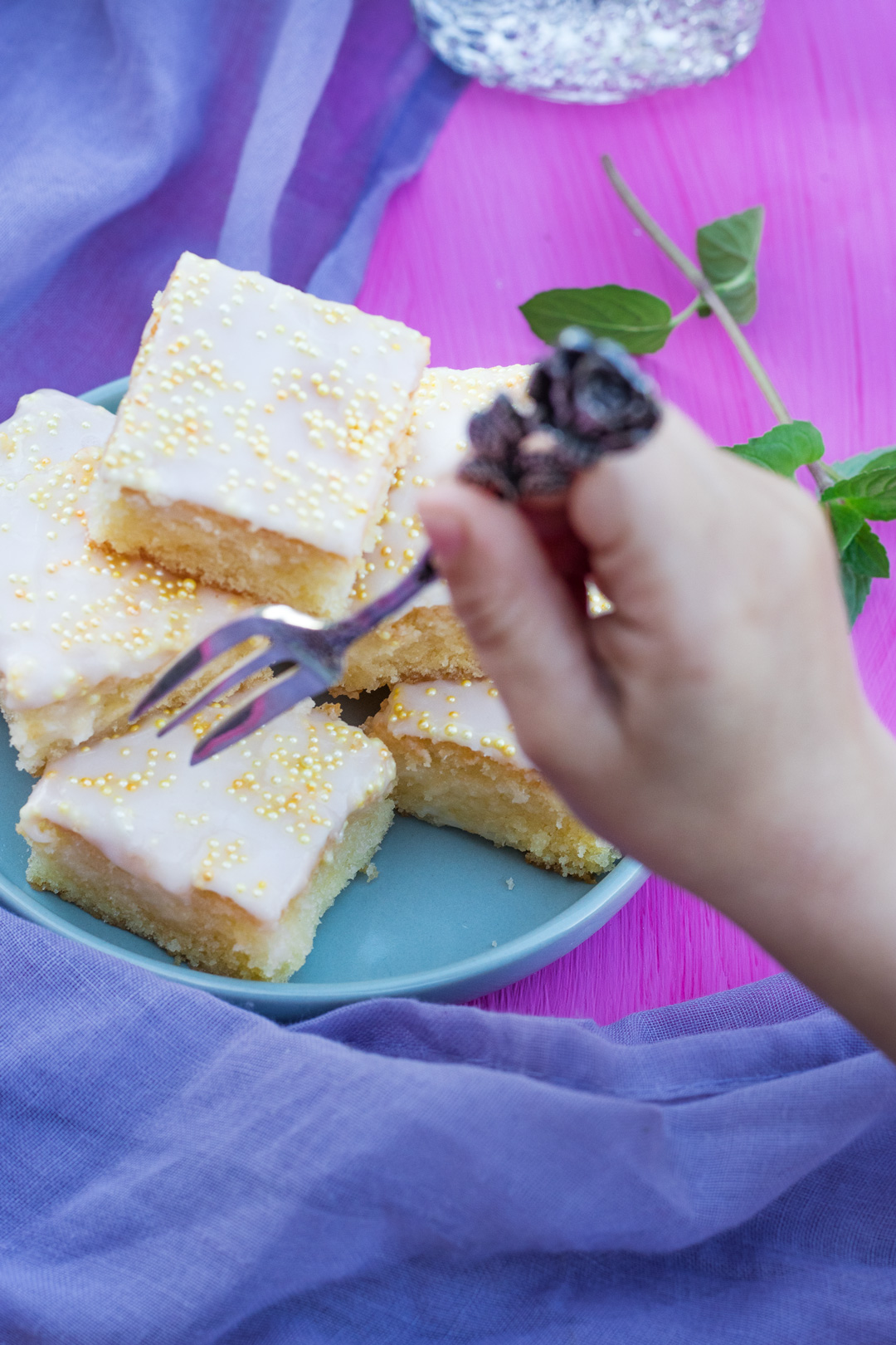 saftiger Zitronenkuchen vom Blech
