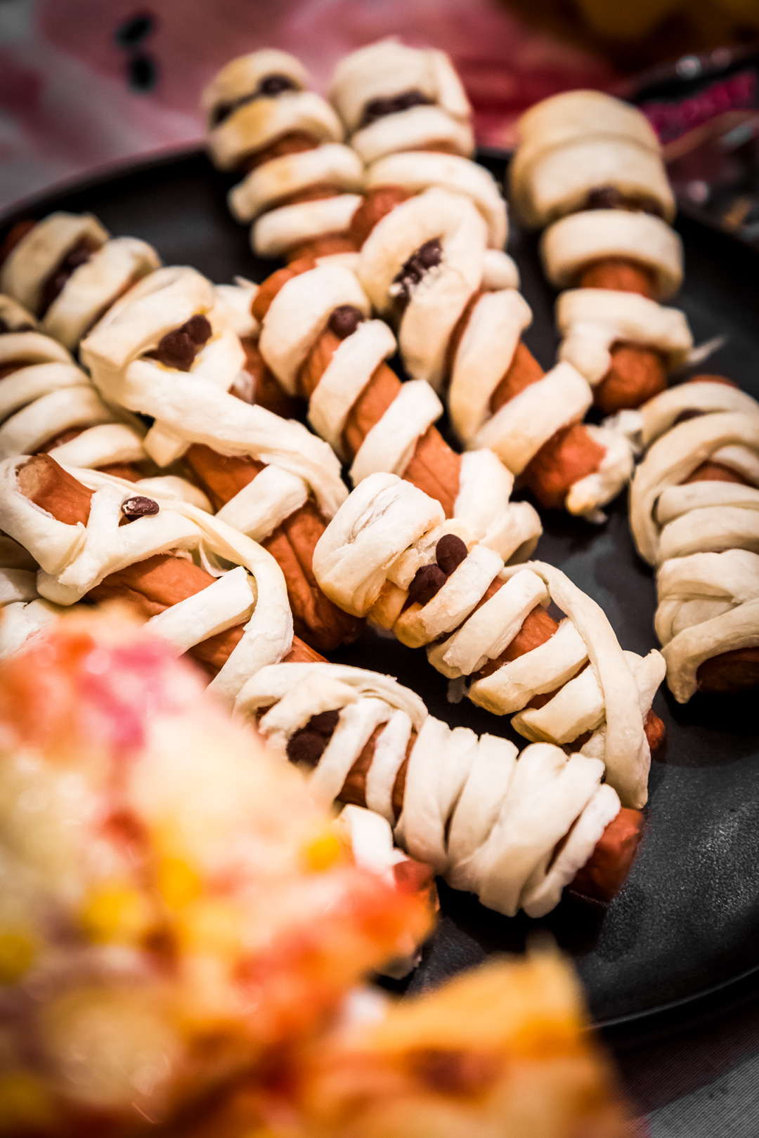 Mumienwürstchen Halloween Deko Buffet Rezepte