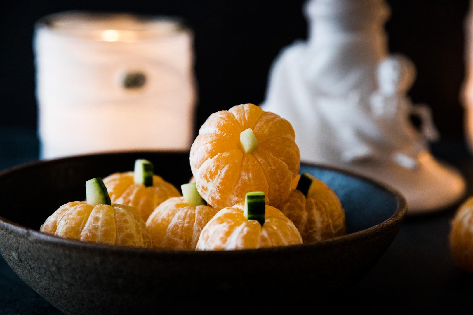 Mandarinenkürbisse Halloween Demo Buffet Rezepte