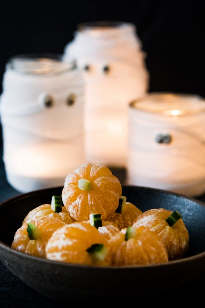 Mandarinenkürbisse Halloween Deko Buffet Rezepte