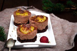 Cheesecake-Pumpernickelboden-Orangencreme