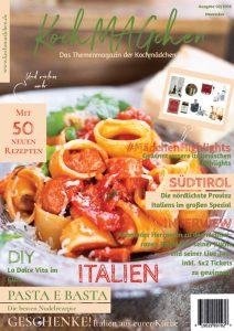 KochMAGchen Italien mit italienischen Rezepten und Klassikern wie Spaghetti Bolognese, Carbonara, Risotto Milanese, Panne Cotta, Torta di Mandorla, Tiramisu