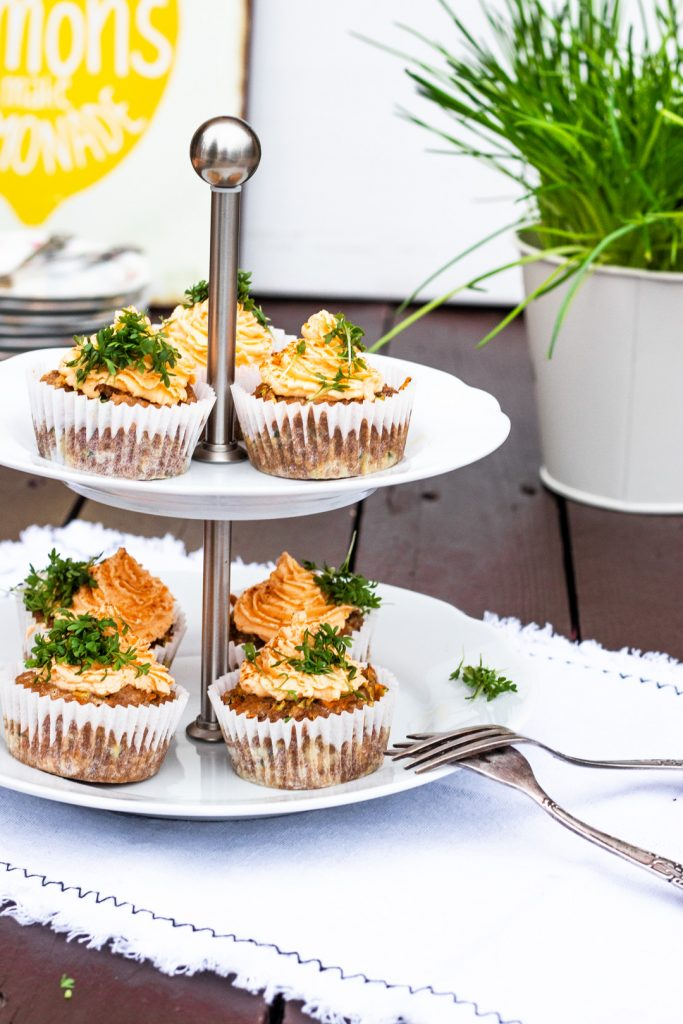 Prepstar-MorphyRichard-Gemüsecupcakes mit Frischkäsefrosting