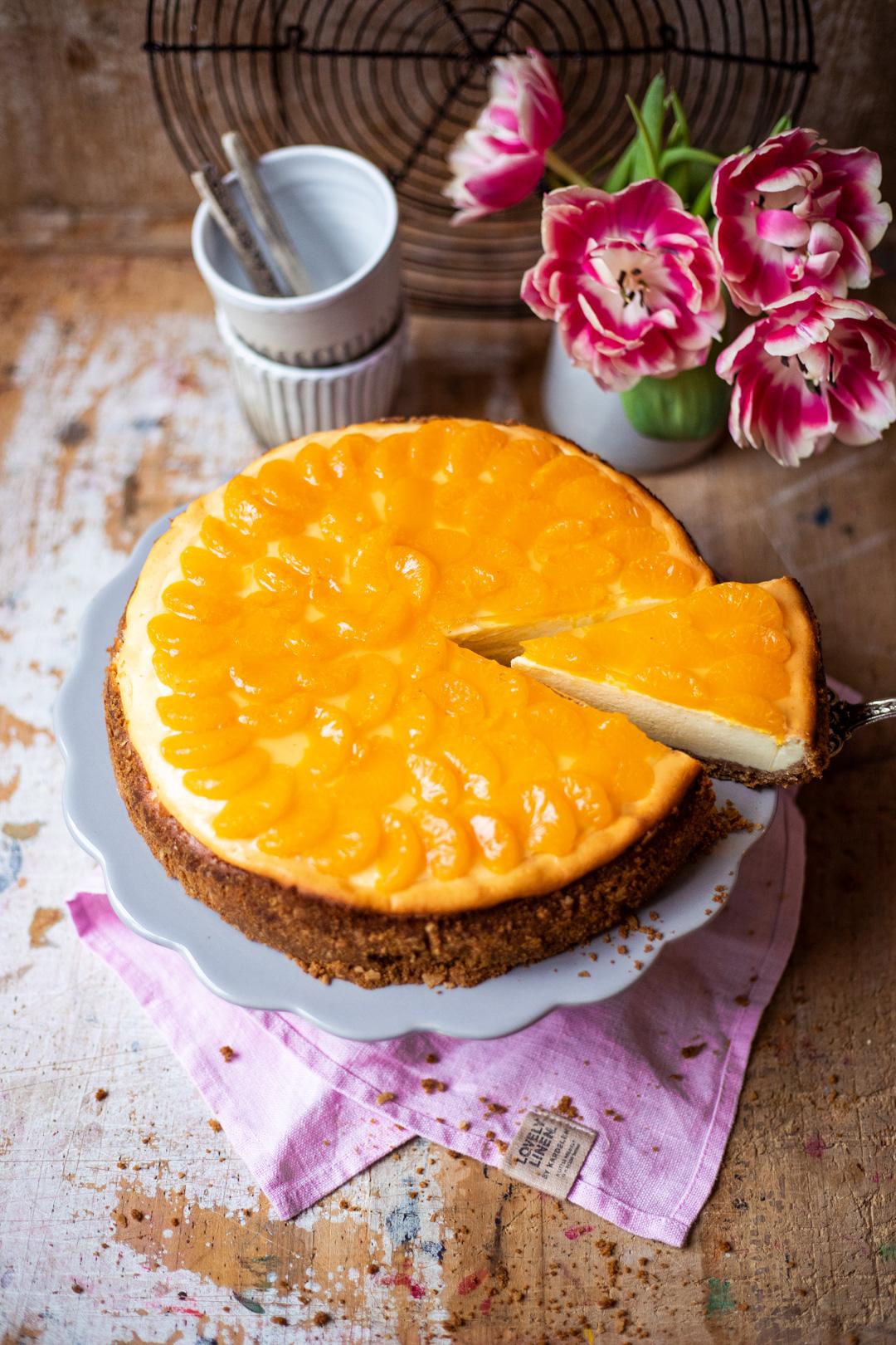 #Mädchenbäckerei: Käsekuchen mit Mandarinen