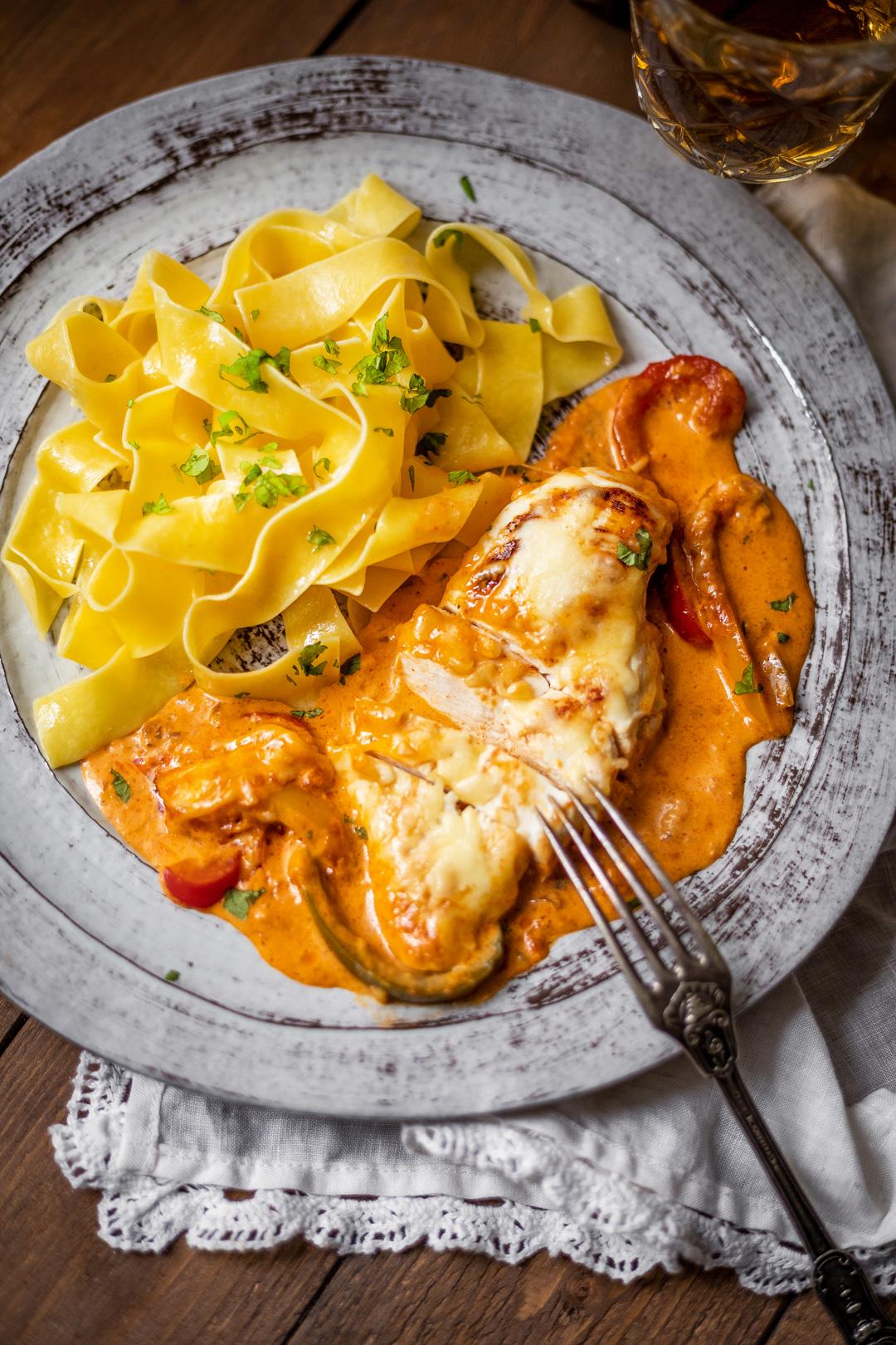 Paprika-Sahne-Hähnchen ohne Fix - Kochmädchen Foodblog