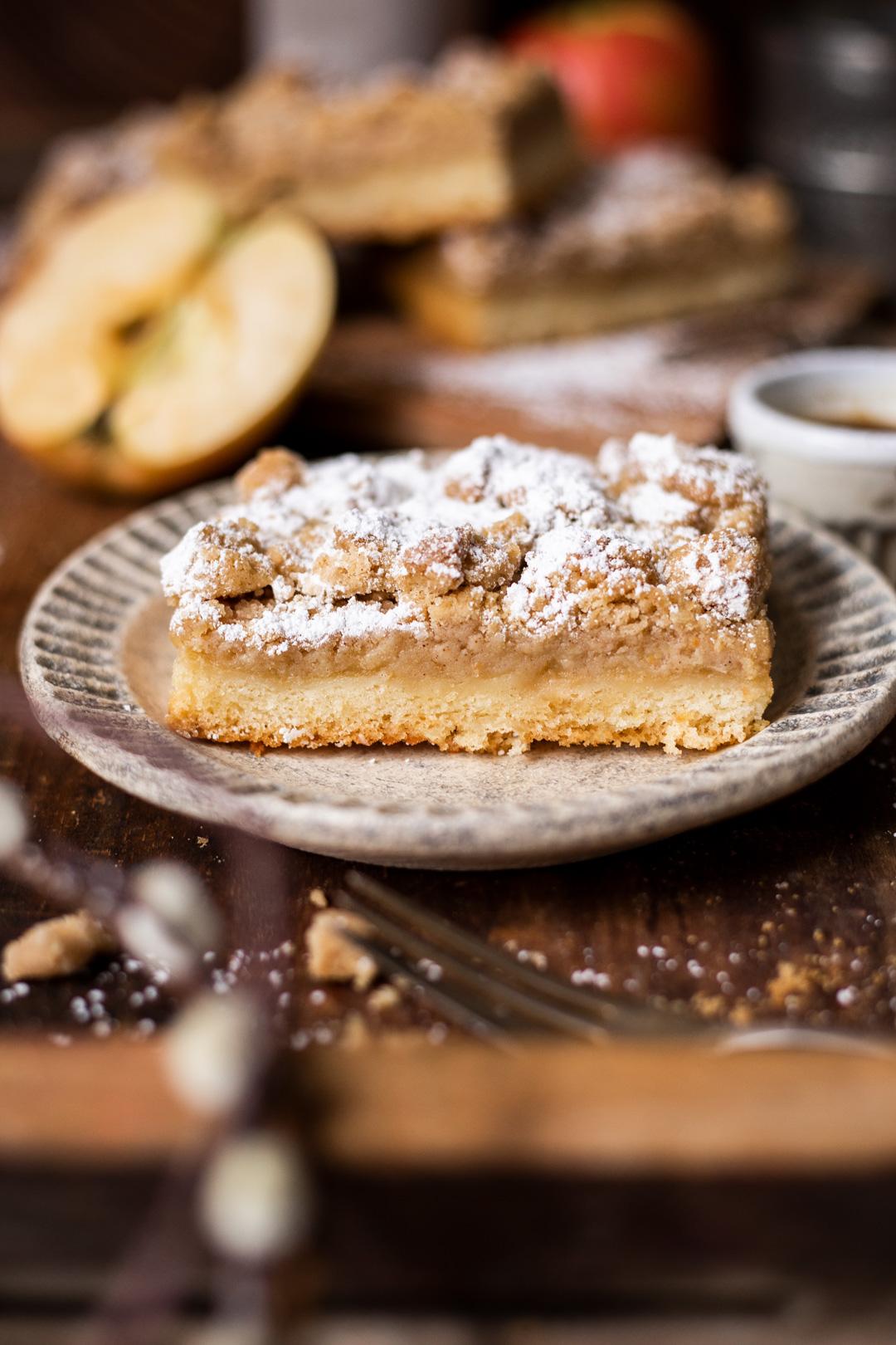 Apfelmuskuchen mit Streuseln - Kochmädchen Foodblog