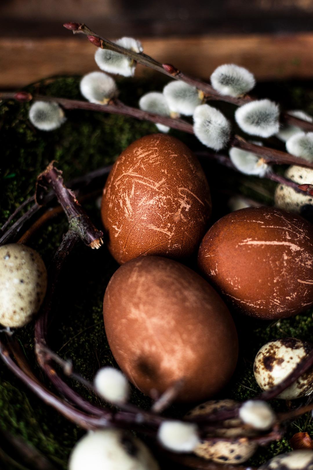 Eier färben mit Kaffee
