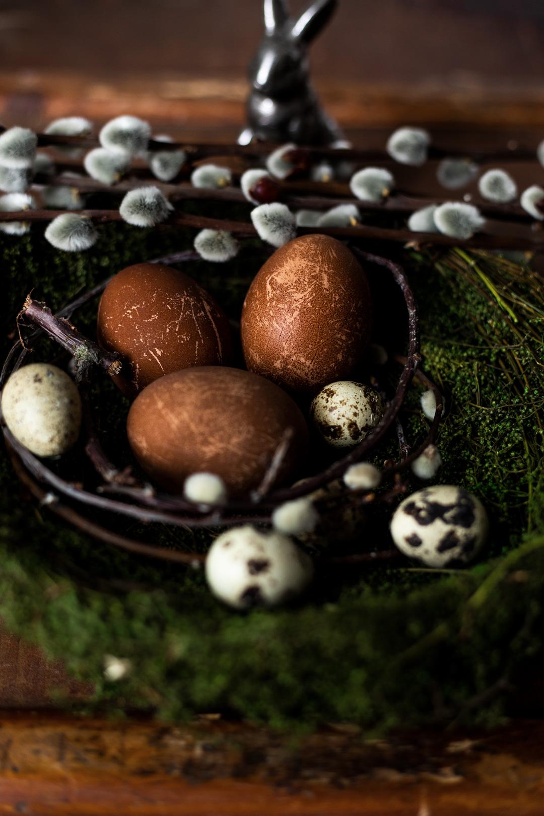 Eier färben Anleitung