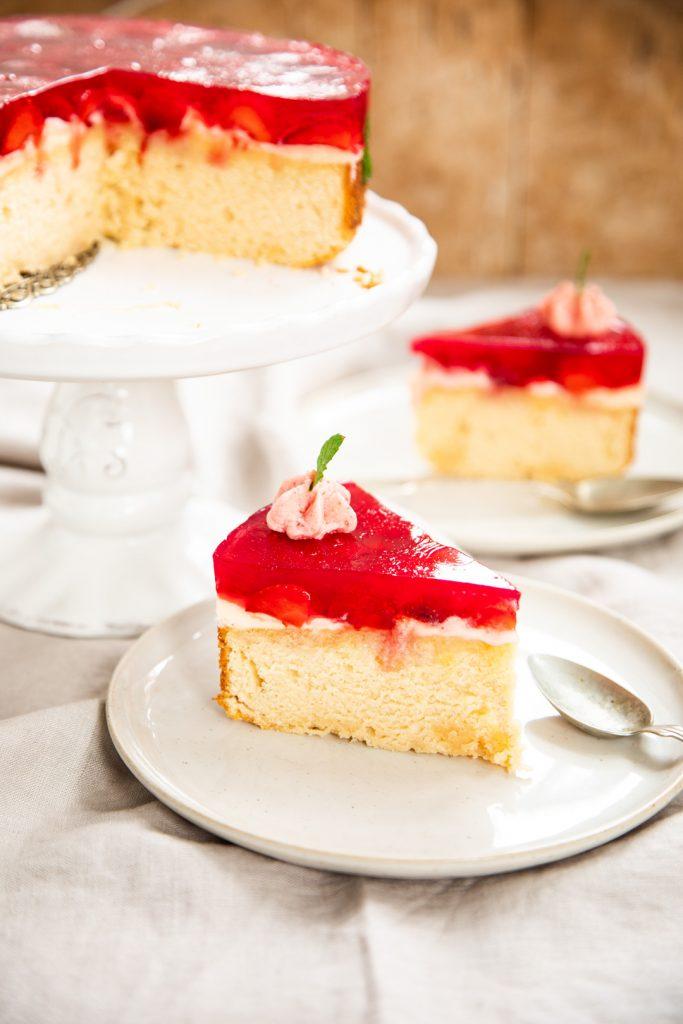 Erdbeer-Torte-Ricottaboden