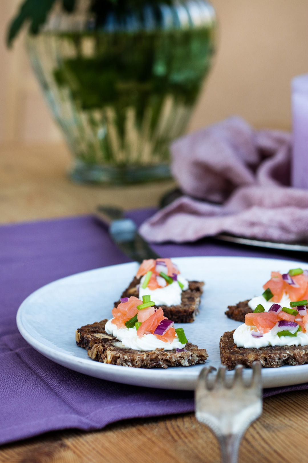 Brotzeit-Ideen mit Trauben Nuss Brot von Mestemacher