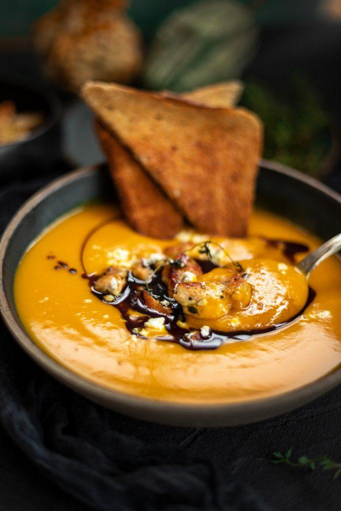 Kürbis-Creme-Suppe selbstgemacht