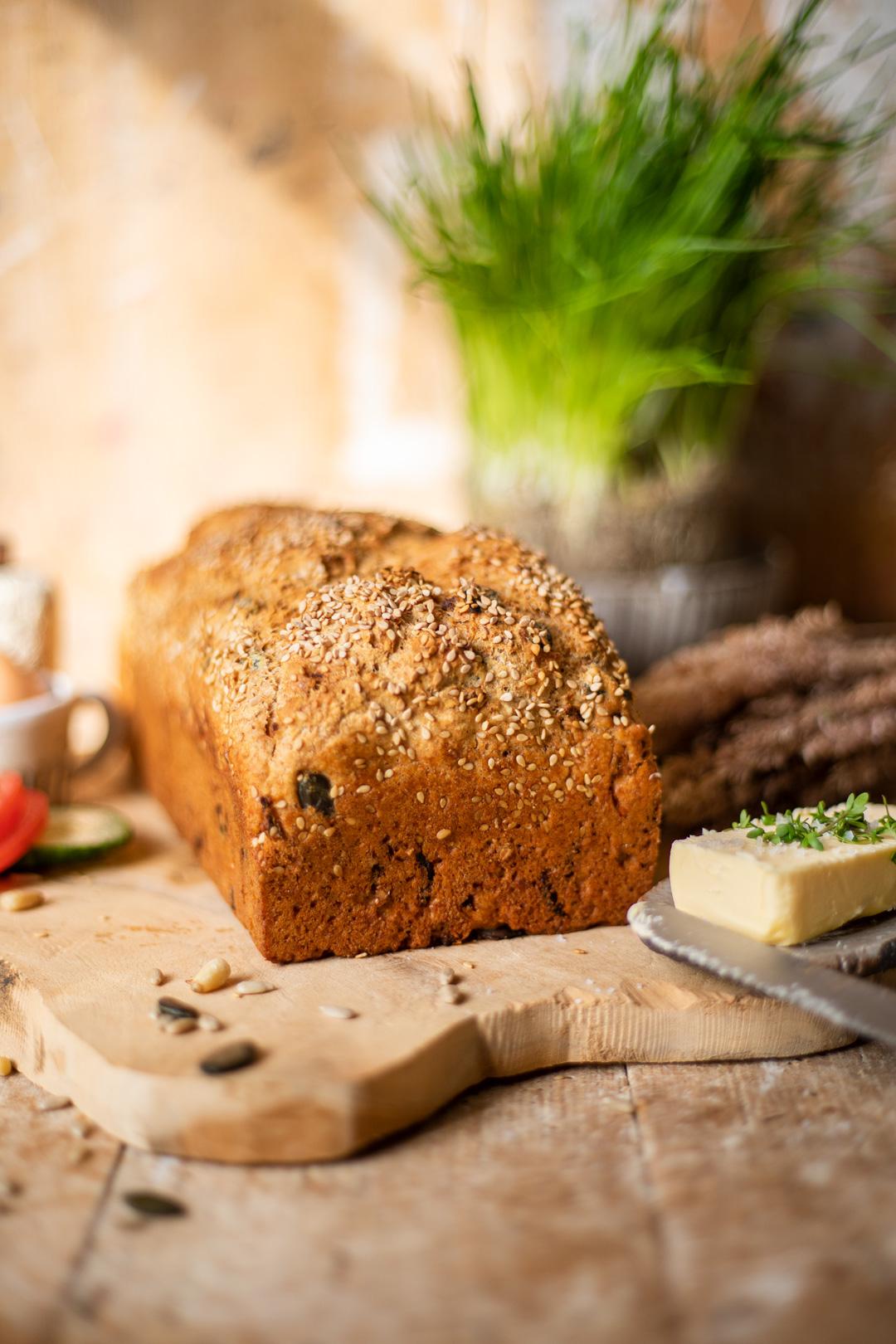 5-Minuten-Brot Rezept mit Hefe, Kernen und Saaten