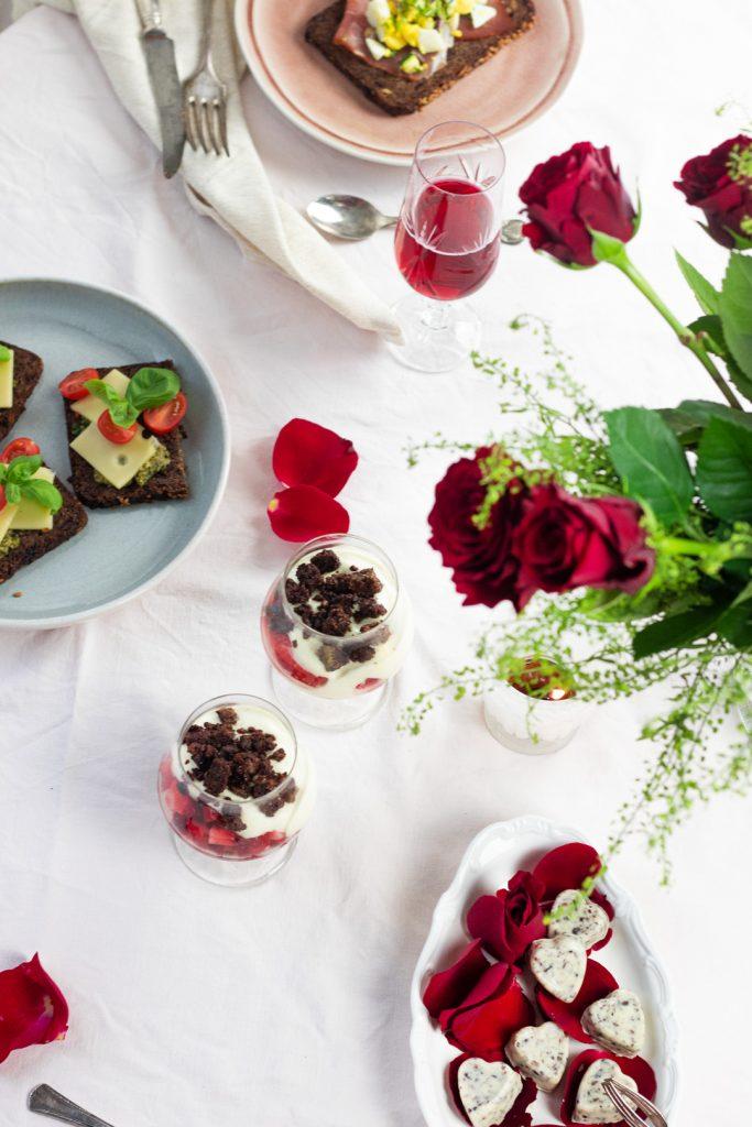 Sektfrühstück zum Valentinstag
