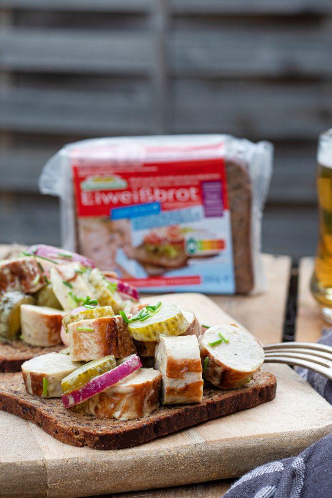 Bratwurstsalat-Snack-Party