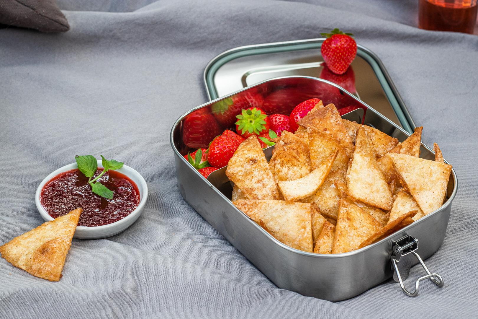 Tortilla-Chips-zum-Picknick