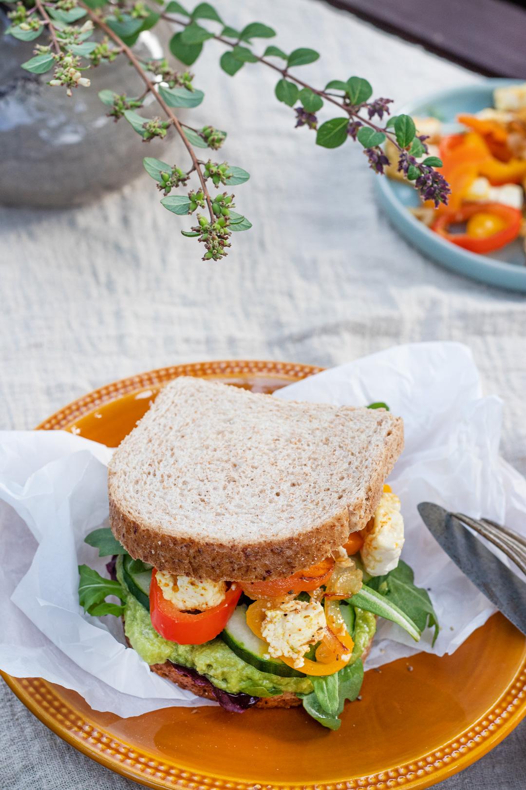 Gegrilltes-Gemüse-Brot