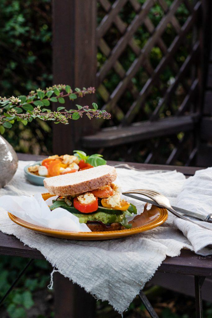 Gegrilltes-Gemüse-Sandwich
