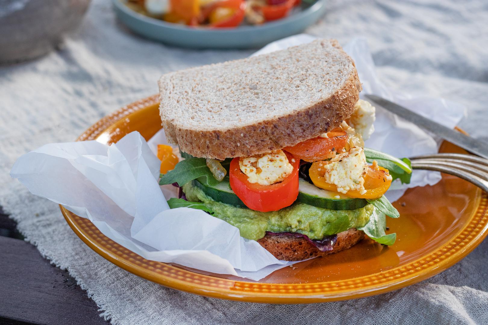Gemuese-Sandwich