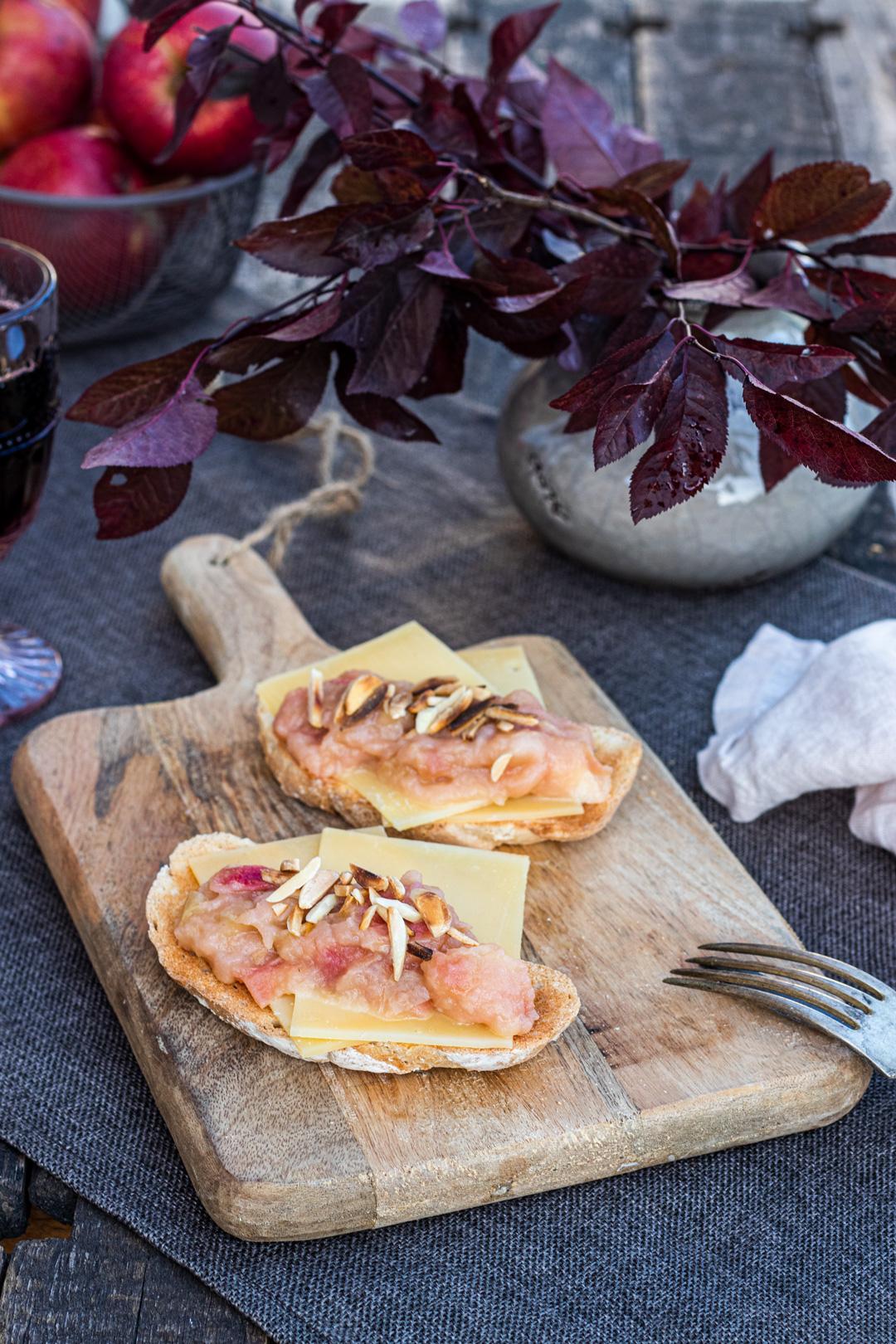 Käse-Apfelchutney